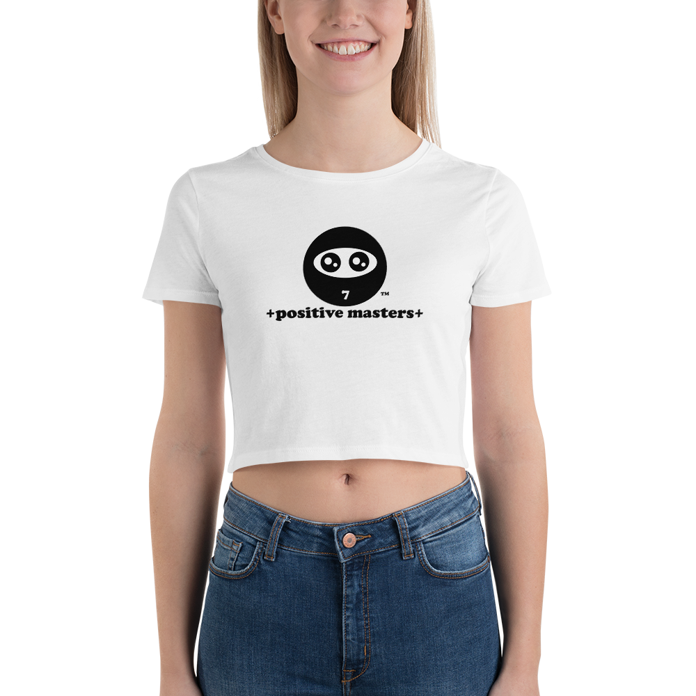 Positive Masters Logo Women's Crop Top Tee - +positive masters+, shirts and clothing to crush anxiety and depression
