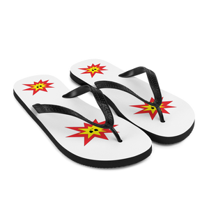 Angry Explosion Flip-Flops
