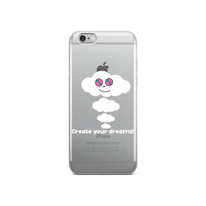 Dream Cloud Mantra Apple iPhone Cases (White Font)