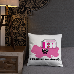 Spilled Pink Milk Logo Pillows