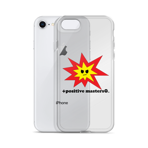 Angry Explosion Logo Apple iPhone Case (Black Font)