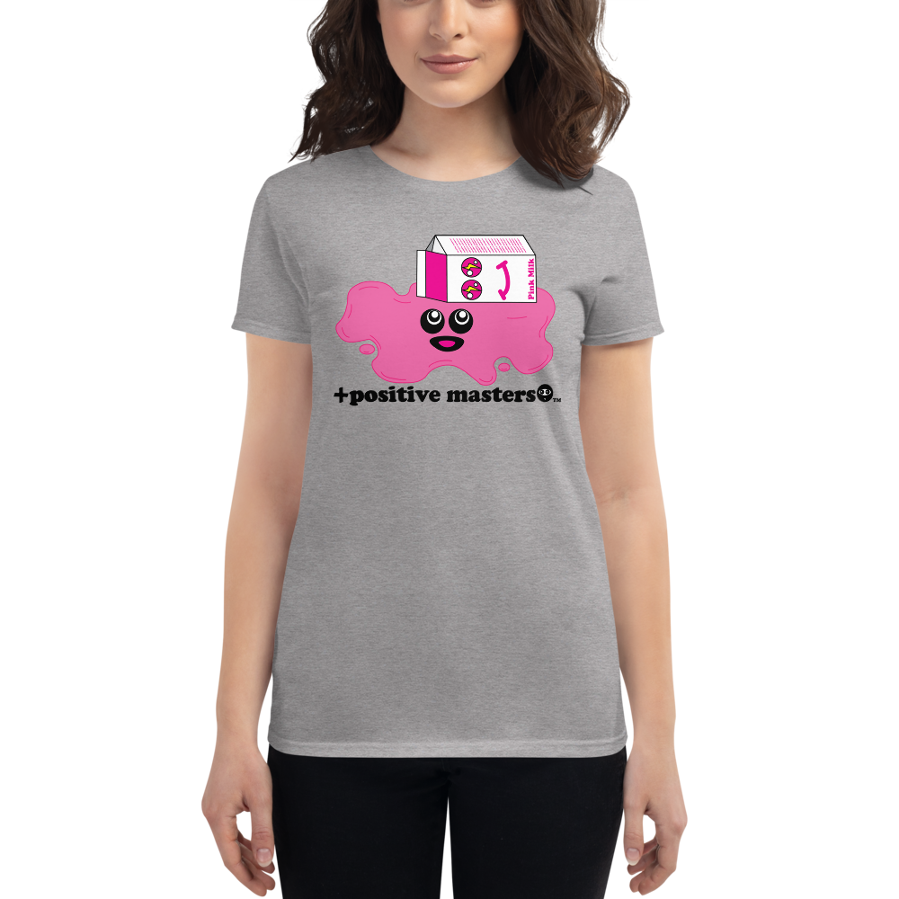 Spilled Pink Milk Logo Women's Fit T-shirts