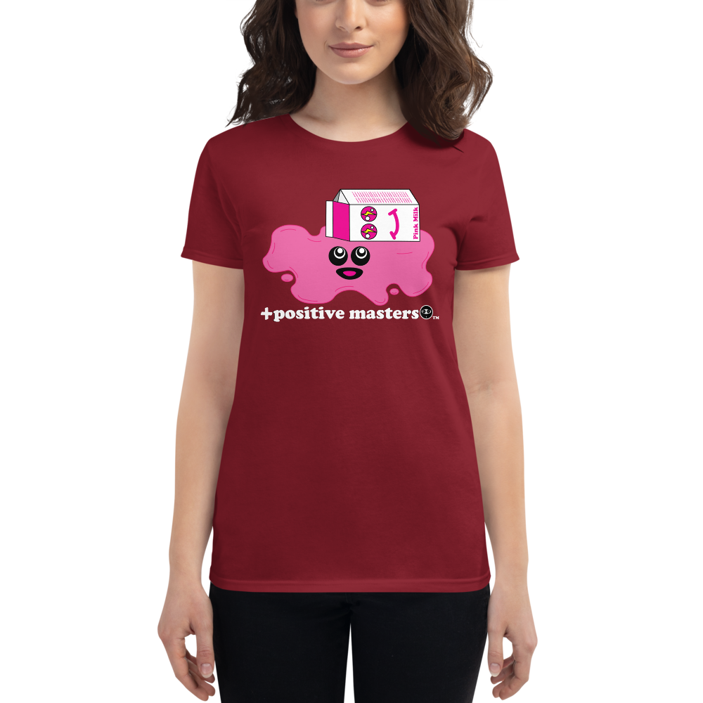 Spilled Pink Milk Logo Dark Women's Fit T-Shirts