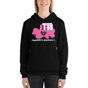 Spilled Pink Milk Logo Dark Unisex Hoodies