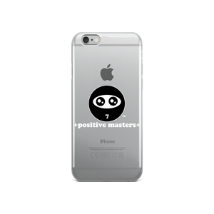 Positive Masters Logo Apple iPhone Cases (White Font)