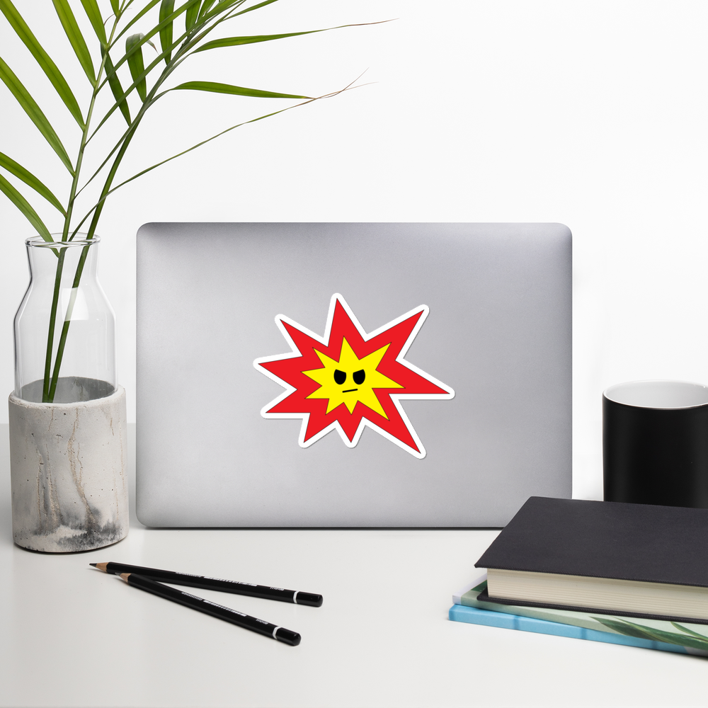 Angry Explosion Stickers