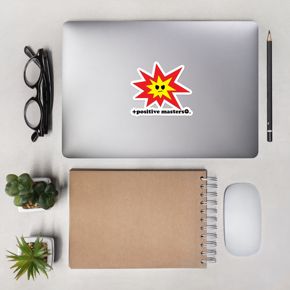 Angry Explosion Logo Stickers