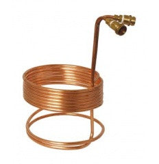 "25' x 3/8"" Copper Wort Chiller w/ Brass Fittings"