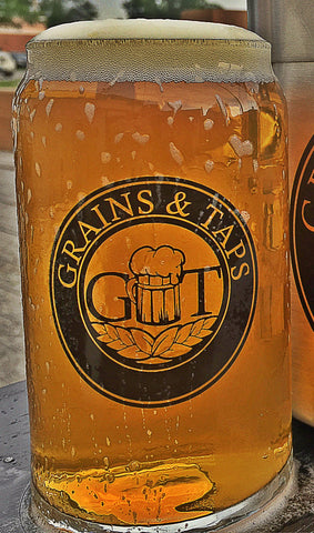 Grains & Taps CAN glass