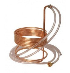 "25' Copper Wort Chiller with Vinyl Tubing Ends - 3/8"" dia."