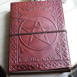 "Wicca Journal Pentagram spell book 5""*7"""