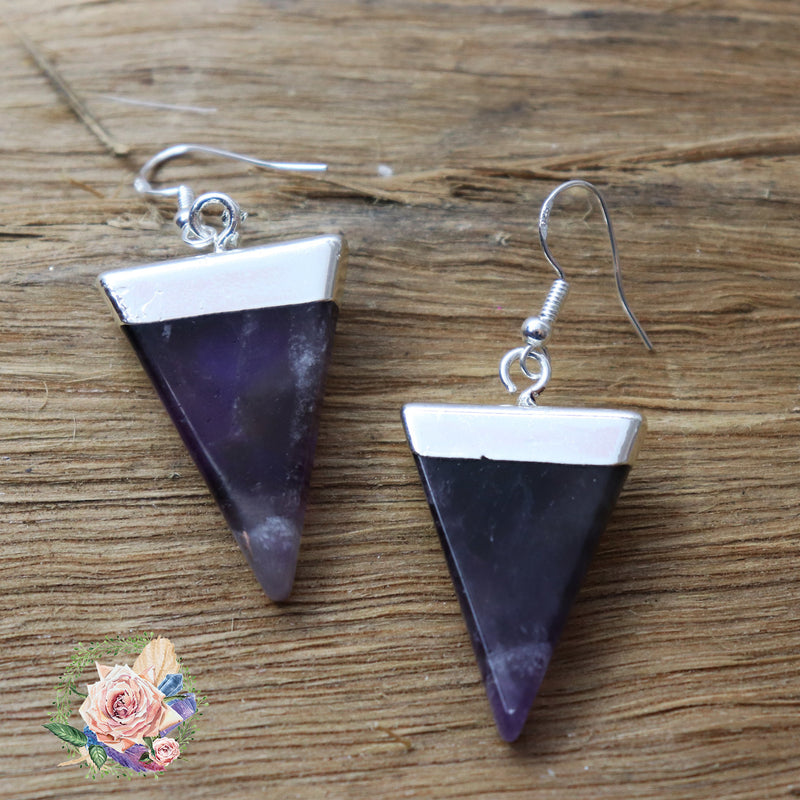 Handmade Silver and Amethyst earrings