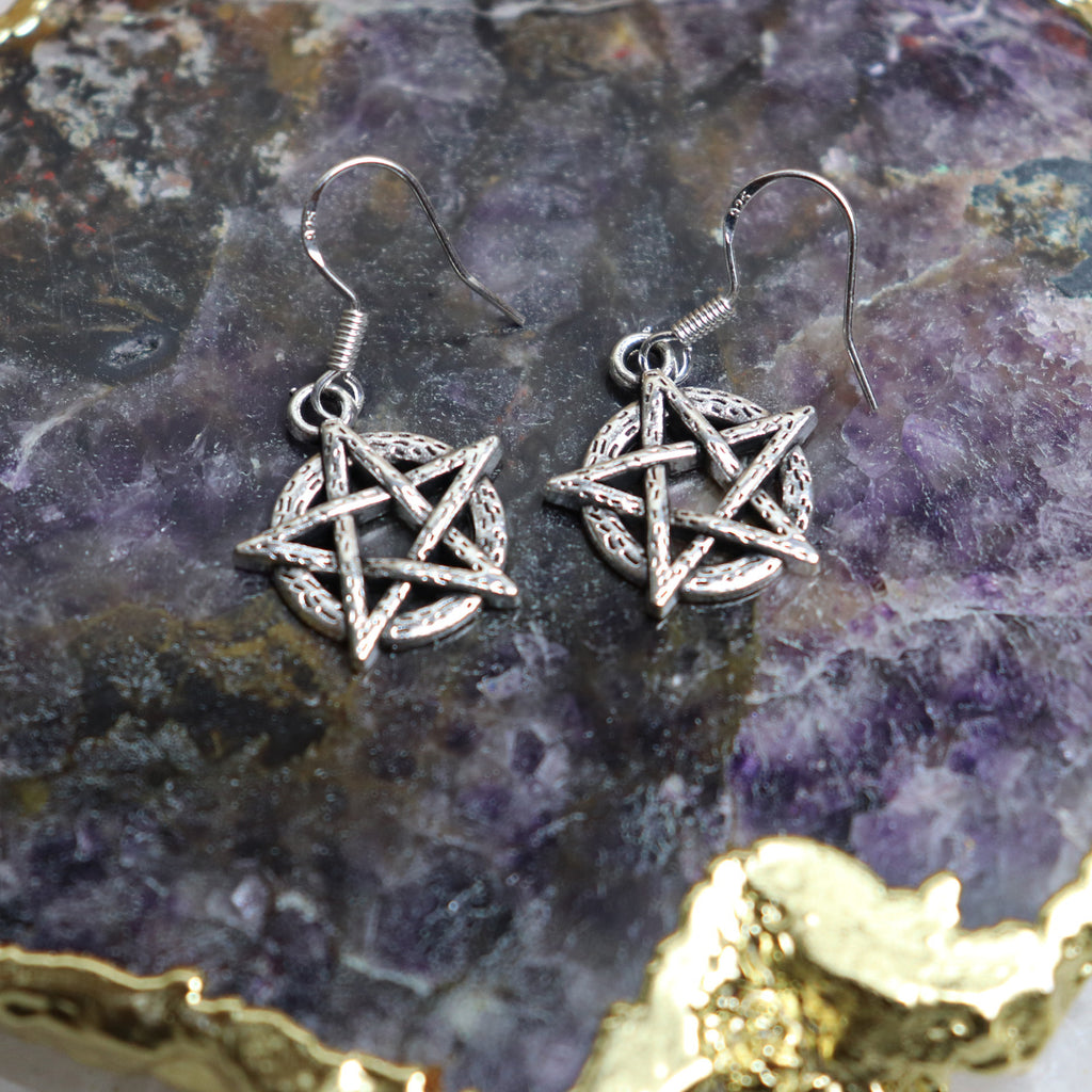 Handmade Pentagram Earrings