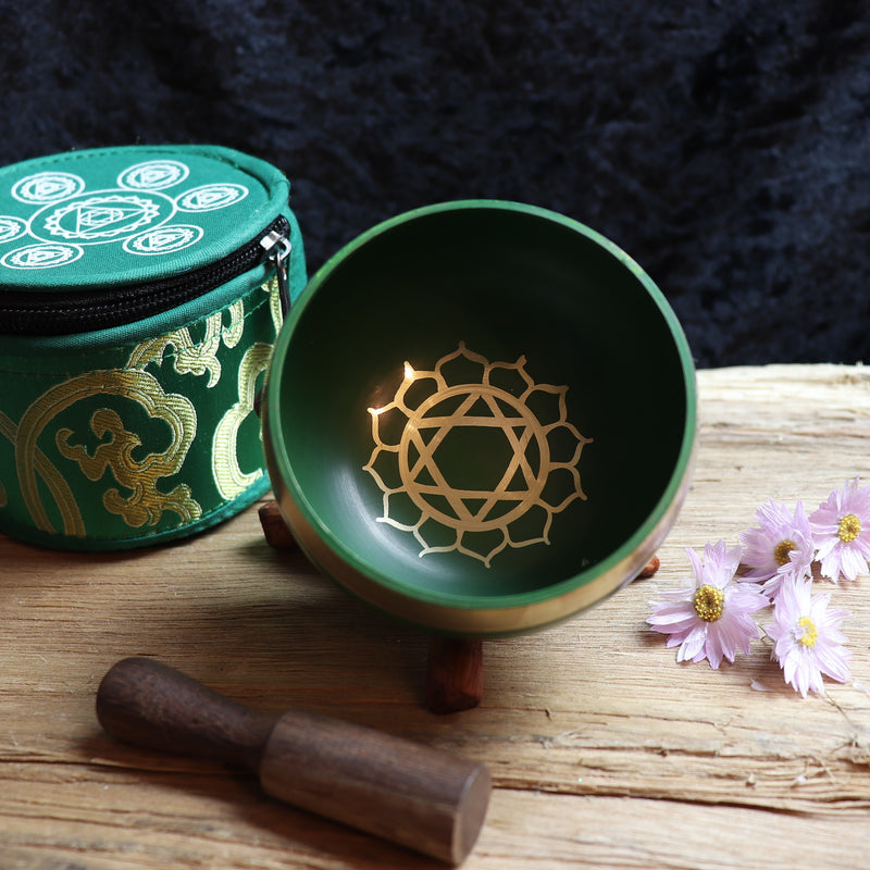 Tibetan Handmade Heart Chakra Singing Bowl
