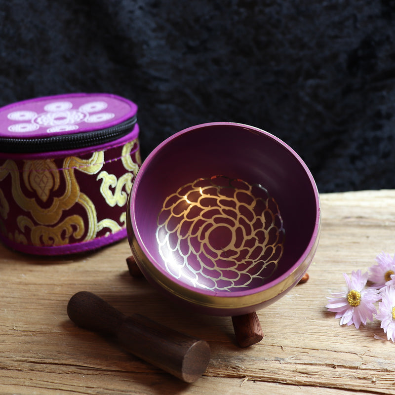 Tibetan Handmade Crown Chakra Singing Bowl
