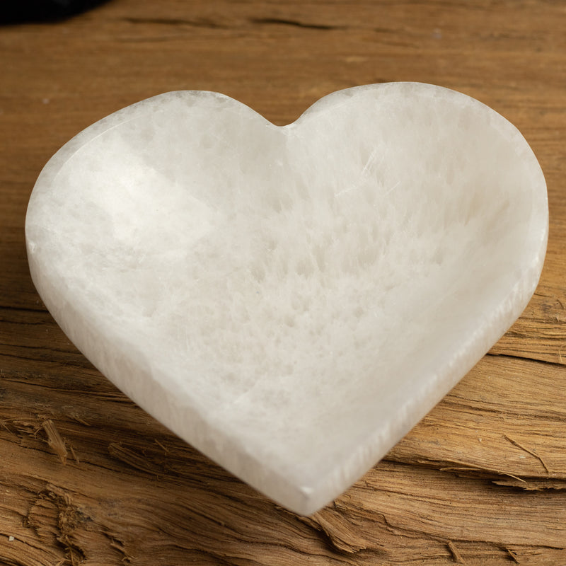 Selenite Heart Charging  Bowl