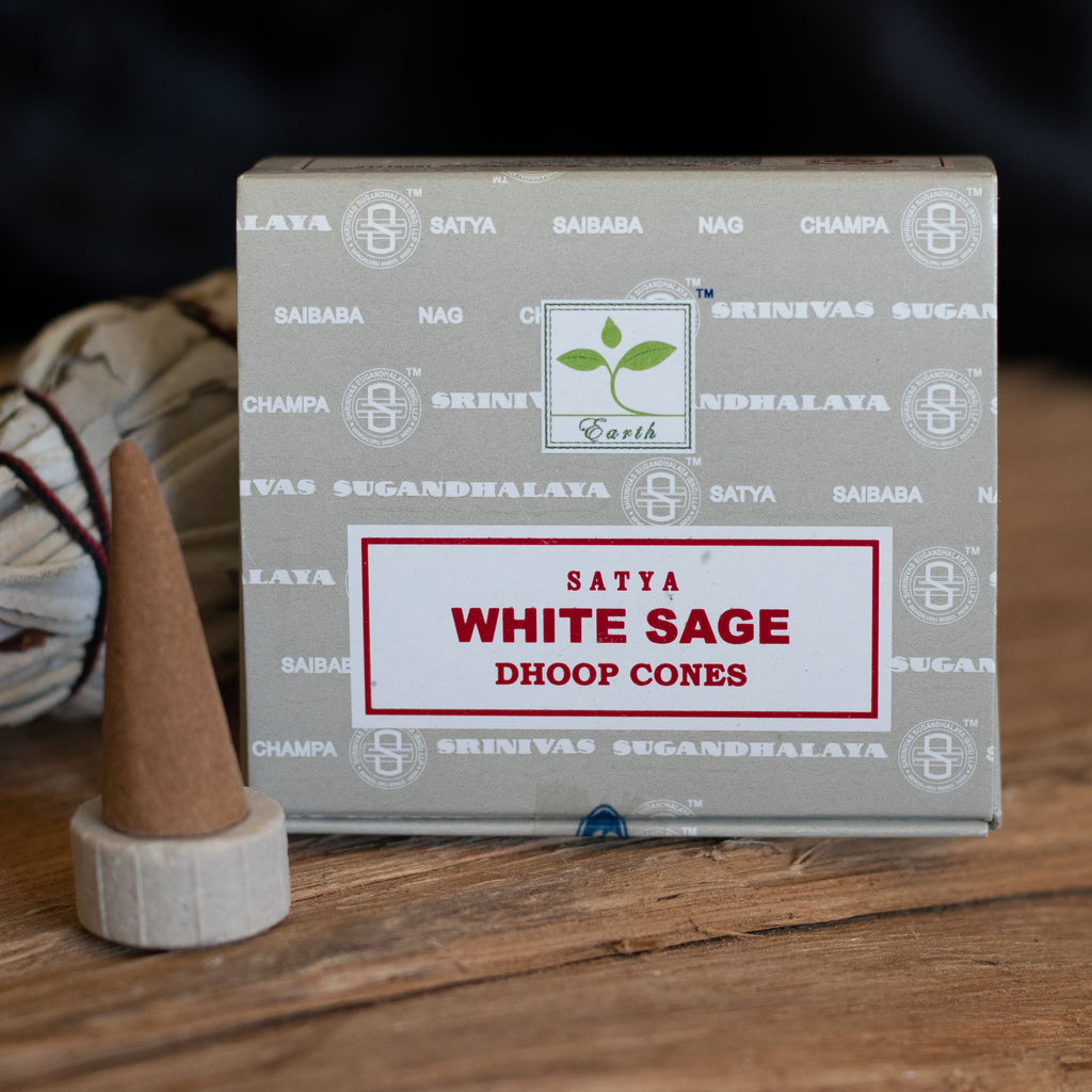 Satya White sage incense cones
