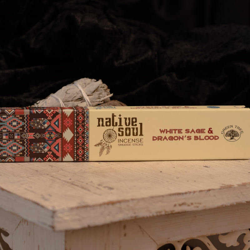 Native Soul White Sage and Dragon Blood Incense