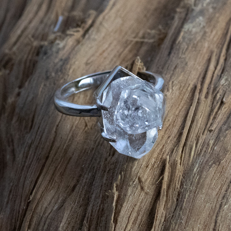Bespoke Sterling Sliver Herkimer Diamond Ring HDR6