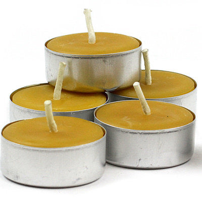 Beeswax t-light candles, Packet of 5