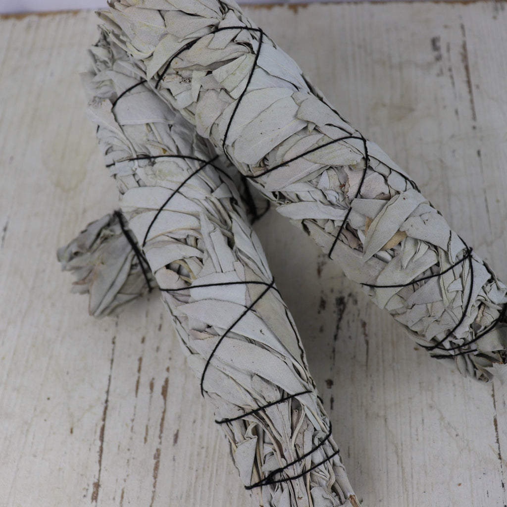 "Large 9"" (22cm) White Sage Smudge Stick"