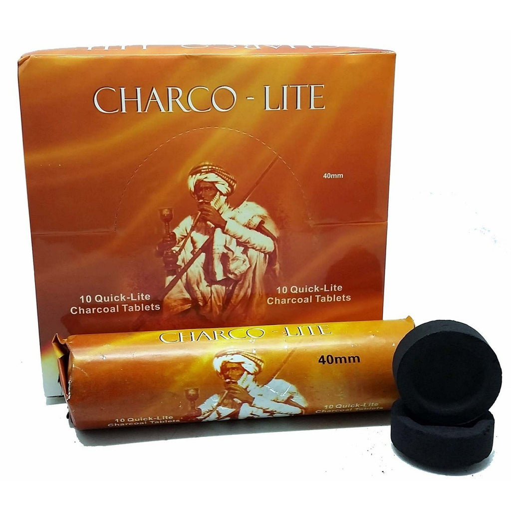 Charco Lite 40mm Charcoal (10 Tablets)