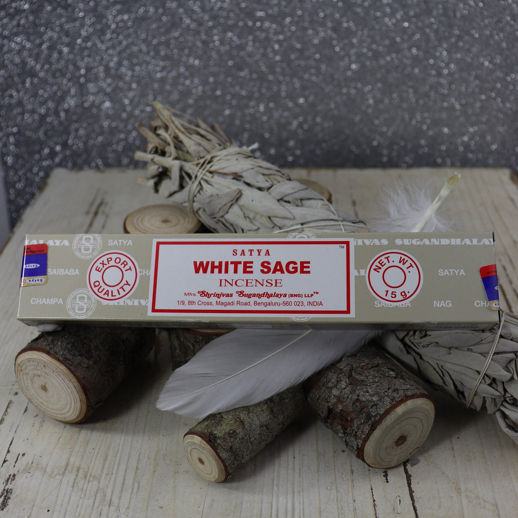 Satya White sage incense sticks 15gms