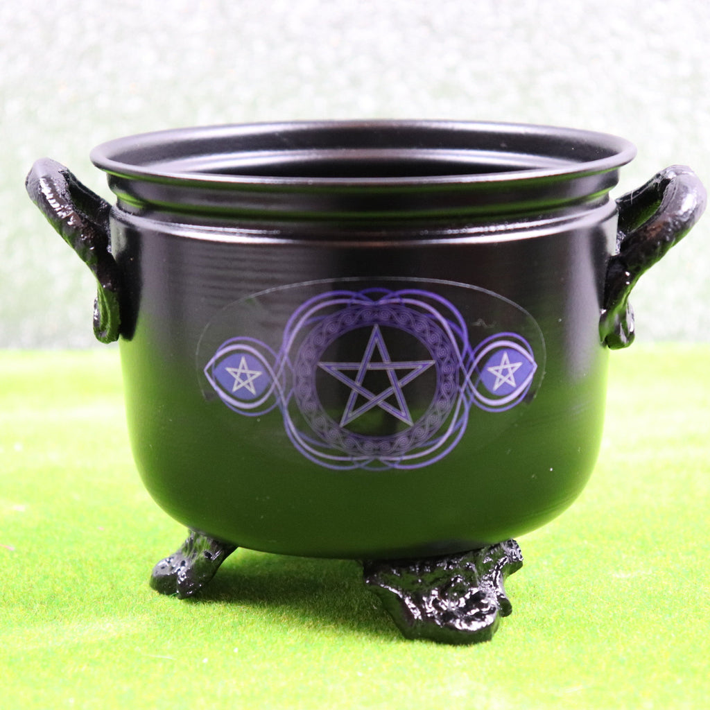 11cm Pentacle Metal Cauldron
