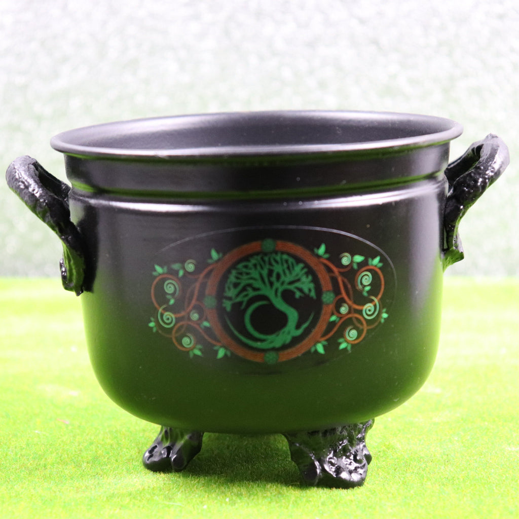 11cm Tree of Life Metal Cauldron
