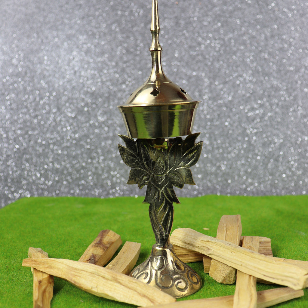 Brass Lotus Incense Burner