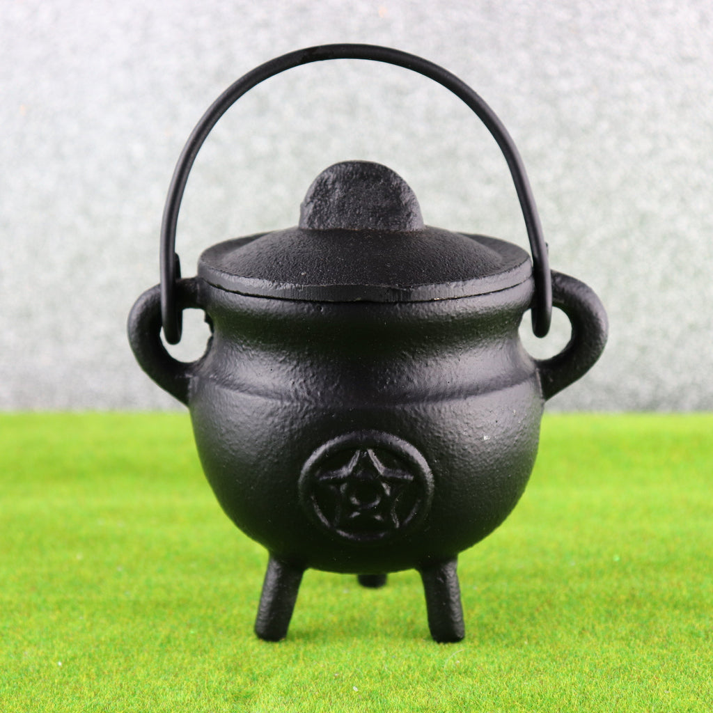 7.5cm Pentacle Tripod Cast Iron Cauldron