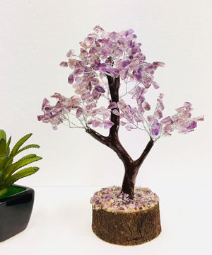 Small Amethyst Crystal Gem Tree (100 Crystal Chips)