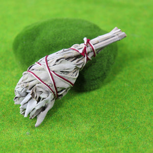 "10cm (3"") Small White Sage Smudge Stick"