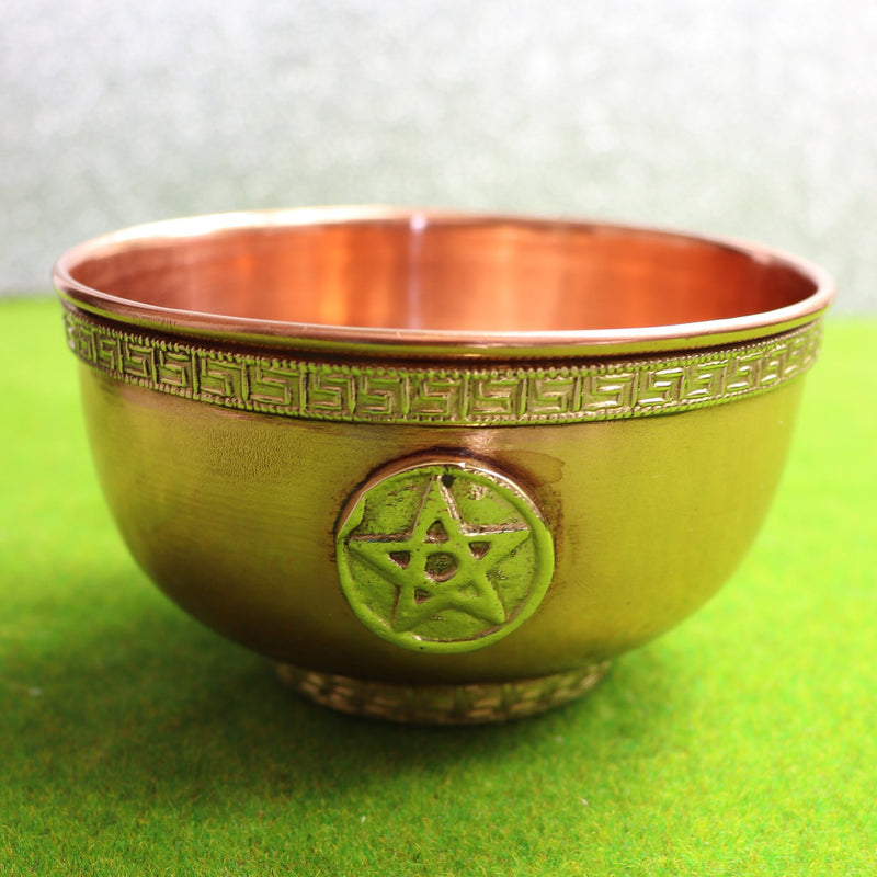 10cm Pentacle Copper Offering Bowl