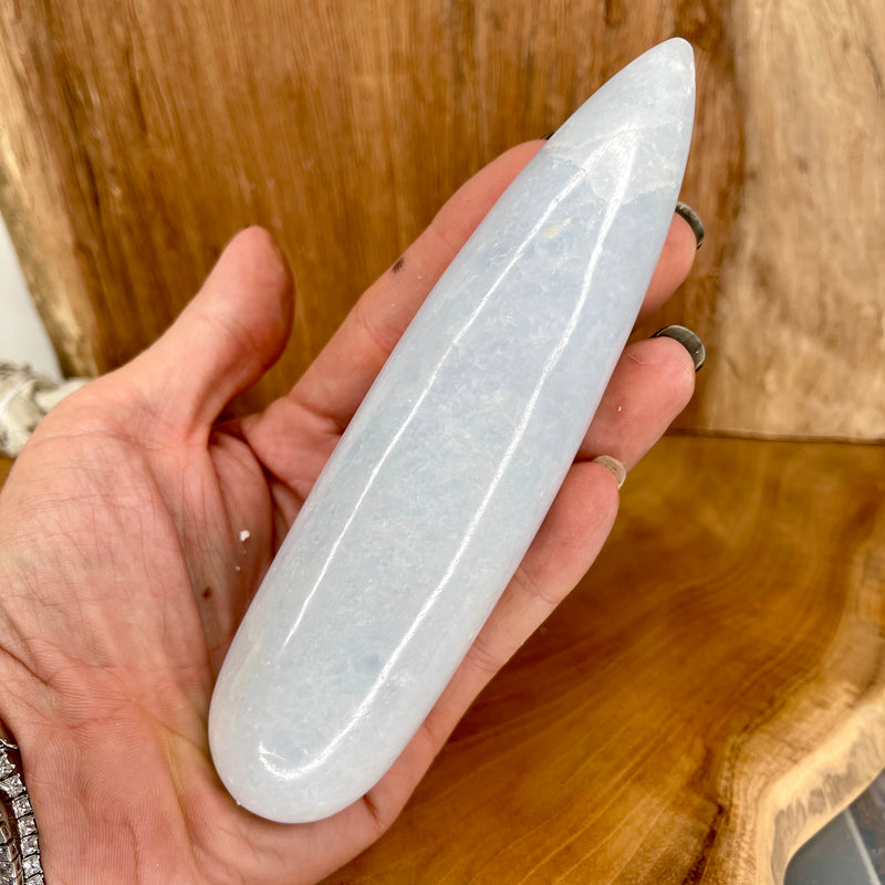Blue Calcite Massage Wand 348g