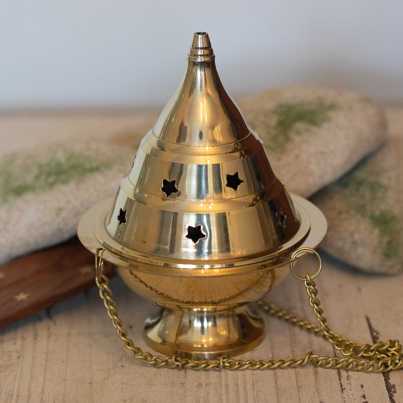 Brass Hanging Incense Burner - Censer