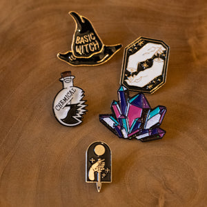 Witches Fashion Pins Set