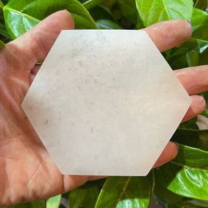 Large Hexagon Selenite Charging Plate