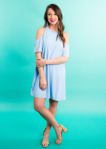 BREEZE ON COLD SHOULDER DRESS