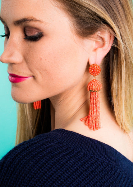 WE SEE YA TASSEL EARRINGS