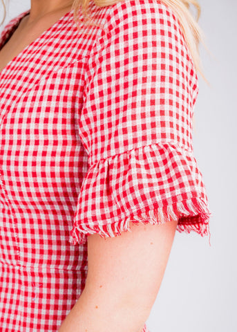 PICNIC READY GINGHAM DRESS