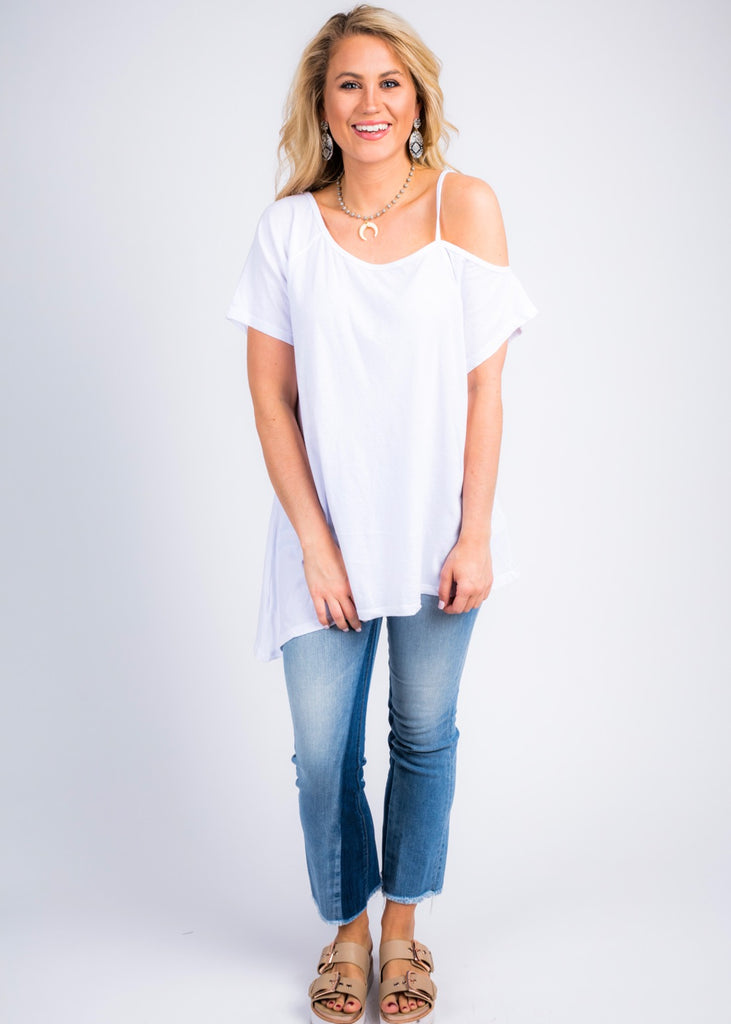 NEW DAY ONE SHOULDER TOP