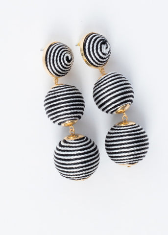 BON BON THREAD BALL EARRINGS