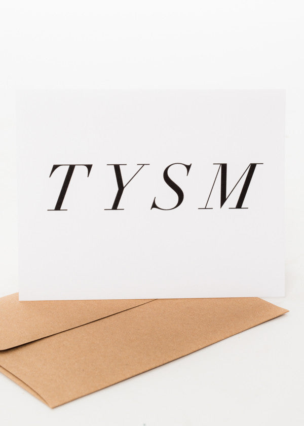 TYSM GREETING CARD