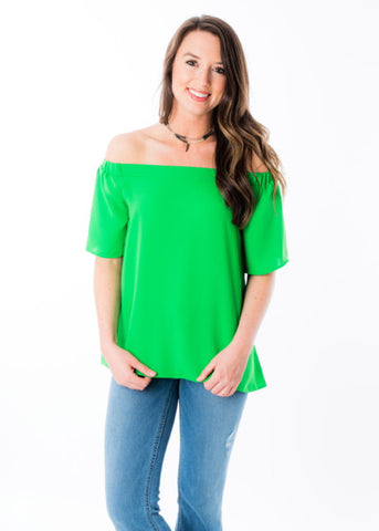 JUST YOUR LUCK OFF THE SHOULDER TOP