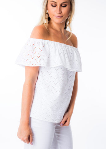 TO BE YOUNG OFF THE SHOULDER TOP