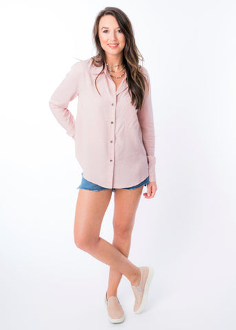 FALL FOR FALL BUTTON UP TOP