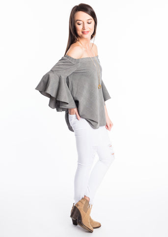 REAL TIME RUFFLE TOP