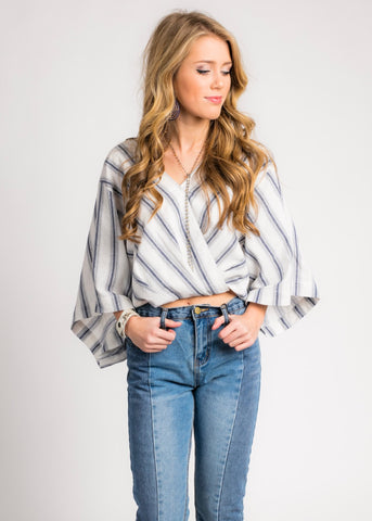 BLUE JEAN BABY STRIPE TOP