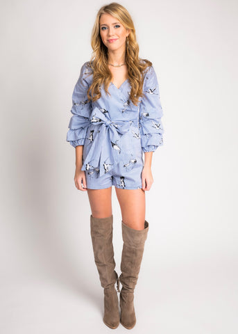 FOR THE BIRDS ROMPER